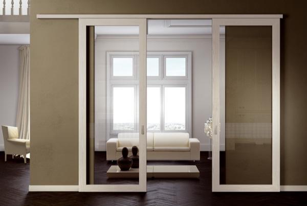 Porte per interni padova legno laminato vetro laccate - Porte scorrevoli per interni ...