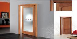 Porta porte porte per interno a padova in legno laminato vetro laccate pd - Porta tamburata legno ...